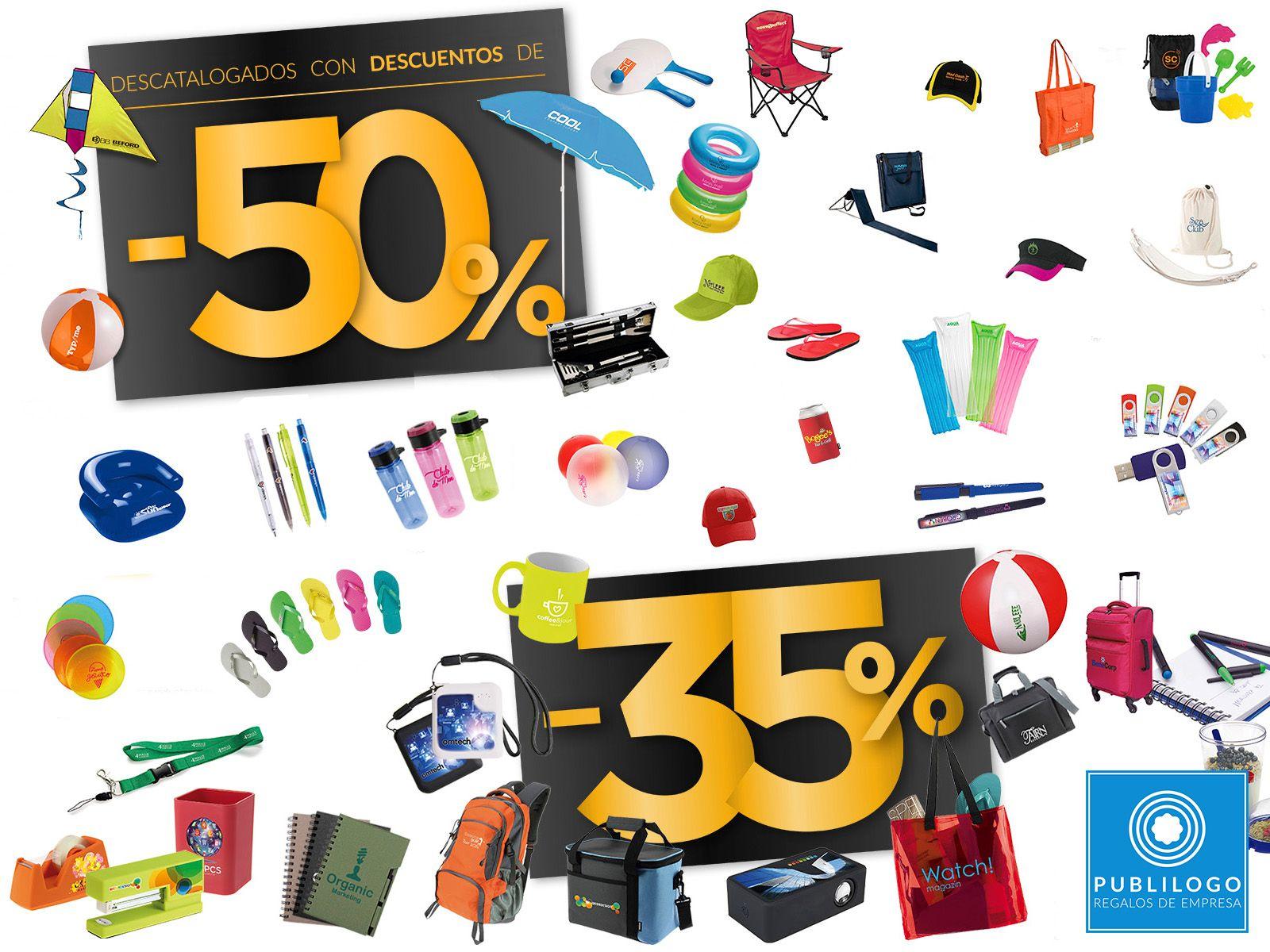 Regalos de empresa baratos. Casi 400 artículos promocionales con descuentos del 35 y 50%